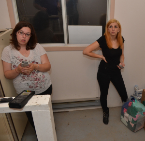 Ashley & Carla partaking in a Spirit Box Session